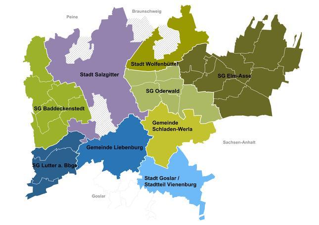 Karte des ILE-Gebietes