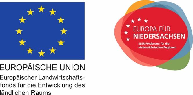Logos: Europäische Union, Europa für Niedersachsen
